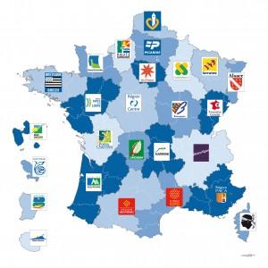 Les logos par régions