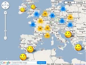 carte du bonheur mondial