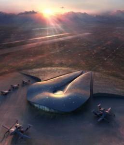 Vue d'artiste du futur port spatial américain