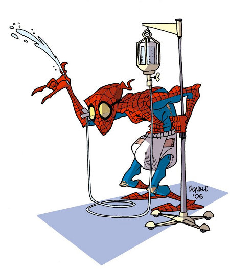 spiderman en vieux