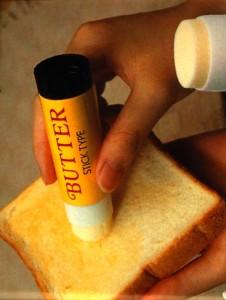 le tube de beurre pour tartine