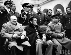avec ses potes à Yalta