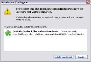 installation de FacePad détaillé