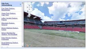 les stades de la coupe du monde dans Street View