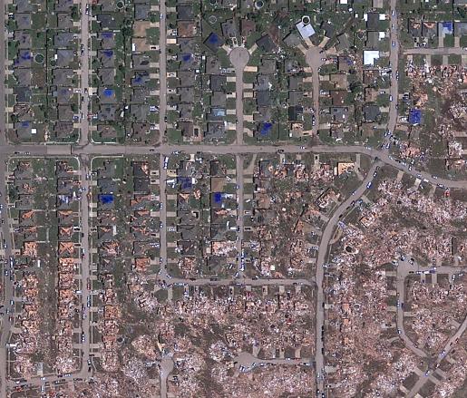 A 100 mètres près la maison est détruite, ou pas